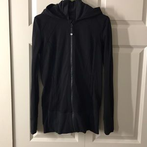 Lululemon Daily Practice Jacket Sz 8 Black